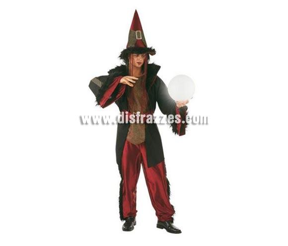 Disfraz de Brujo Dacha adulto deluxe para Halloween. Alta calidad. Hecho en España. Disponible en varias tallas. Incluye pantalón, cinturón, sombrero y chaqueta con camisa.