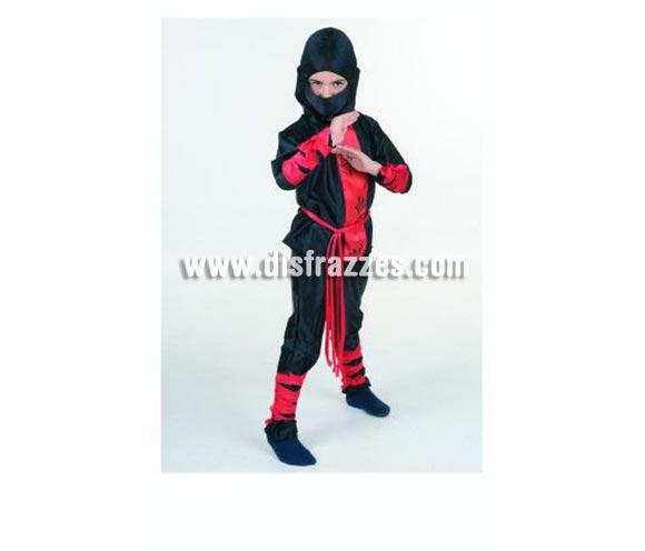 Disfraz de Ninja infantil. Alta calidad. Hecho en España. Disponible en varias tallas. OFERTA POR LIQUIDACIÓN DE STOCK, éste disfraz es de gran calidad por los tejidos empleados.