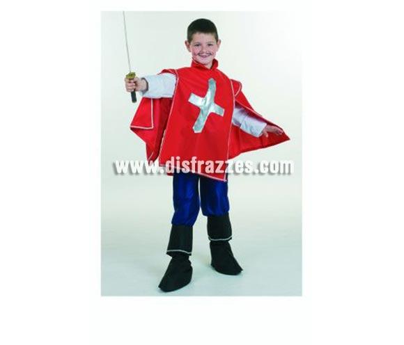 !!!SUPEROFERTA!!! Por fin de existencias. Disfraz de Mosquetero infantil. Alta calidad. Hecho en España. Disponible en varias tallas. Incluye casaca, pantalón y cubrepies. Espada NO incluida, podrás verla en la sección Complementos.