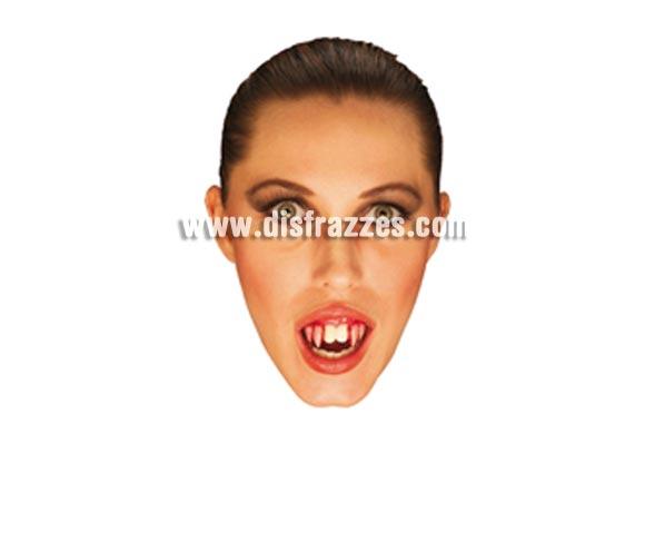 Dientes de Vampiro sangrantes para Halloween. Artículo de Maquillaje ideal para caracterizarte en Carnaval, en Halloween o en cualquier fecha del año.