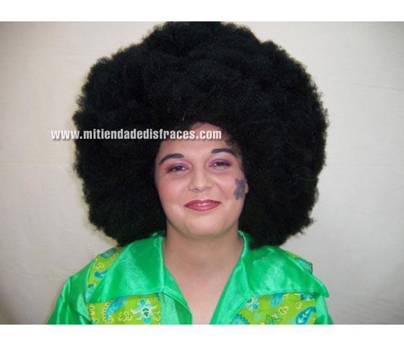 Peluca super afro negra. Muy buena calidad. Fabricada en España. Talla universal.