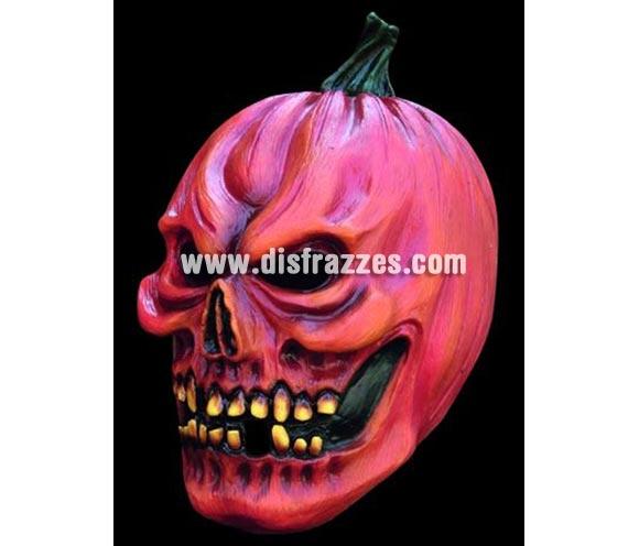 Máscara de Calabaza de látex para Halloween. Alta calidad. Fabricada en látex artesanalmente por una empresa que realiza efectos especiales para Hollywood.
