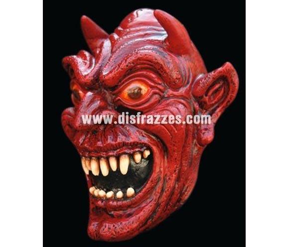 Máscara de Satán de látex para Halloween. Alta calidad. Fabricada en látex artesanalmente por una empresa que realiza efectos especiales para Hollywood.