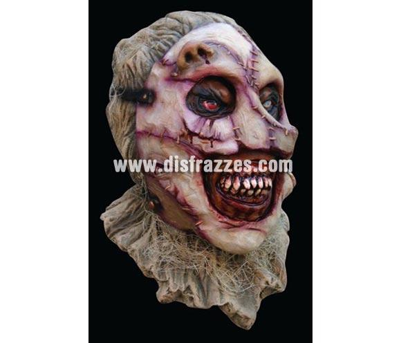 Máscara Cara cosida a trozos para Halloween. Máscara de Zombie cosido. Alta calidad. Fabricada en látex artesanalmente por una empresa que realiza efectos especiales para Hollywood.
