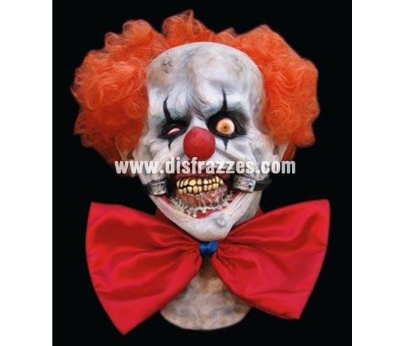 Máscara Payaso Zombie risueño látex para Halloween