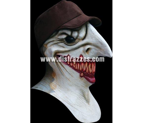 Máscara de Sharky para Halloween. Alta calidad. Fabricada en látex artesanalmente por una empresa que hacen efectos especiales para Hollywood. Máscara de Hombre-Tiburón.