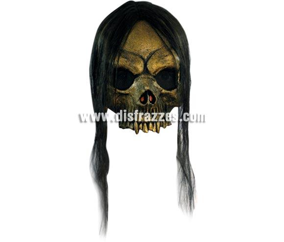 Máscara Open Gold Skull para Halloween. Alta calidad. Fabricada en látex artesanalmente por una empresa que realiza efectos especiales para Hollywood.