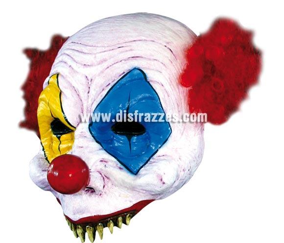 Máscara Open Gus Clown para Halloween. Alta calidad. Fabricada en látex artesanalmente por una empresa que realiza efectos especiales para Hollywood.