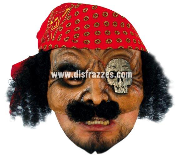 Máscara Open Pirate para Halloween. Media máscara de Pirata. Alta calidad. Fabricada en látex artesanalmente por una empresa que realiza efectos especiales para Hollywood.