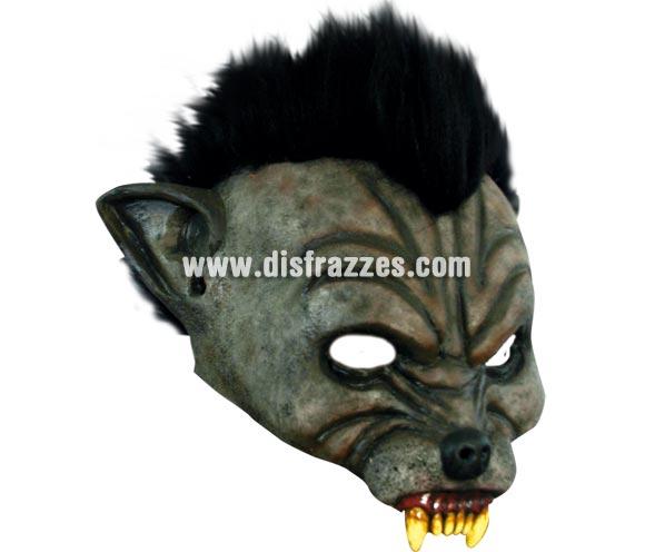 Máscara Open Wolf para Halloween. Media máscara de hombre lobo. Alta calidad. Fabricada en látex artesanalmente por una empresa que realiza efectos especiales para Hollywood.