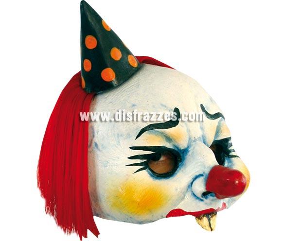 Máscara Open Yordi Clown para Halloween. Media máscara de Payaso Yordi. Alta calidad. Fabricada en látex artesanalmente por una empresa que realiza efectos especiales para Hollywood.