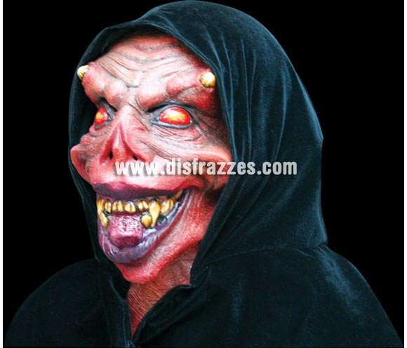 Máscara de Datary para Halloween. Máscara de Diablo Vampiro. Alta calidad. Fabricada en látex artesanalmente por una empresa que realiza efectos especiales para Hollywood.