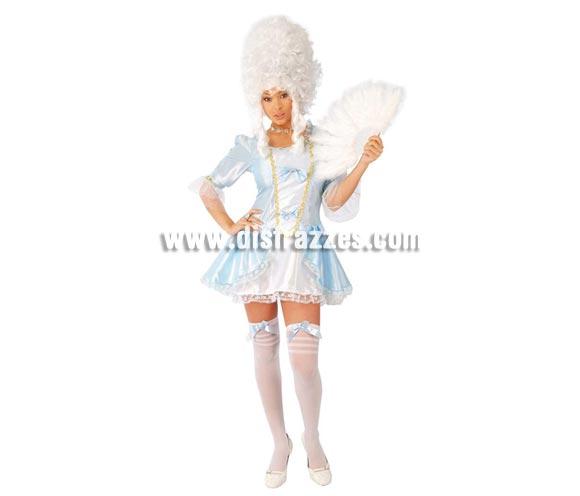 Disfraz de Marquesa Sexy adulta para Carnavales. Talla única hasta la 38/40. Incluye vestido. Peluca, medias y abanico NO incluidos, podrás verlos en la sección Complementos. Disfraz de Época Sexy para mujer.