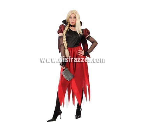 Disfraz de Bruja Rapunzel malvada para Halloween adulta. Talla única válida hasta la 42/44. Incluye vestido, peluca NO incluida, podrás verla en la sección de Pelucas. Hacha NO incluida, podrás verla en la sección de Armas.