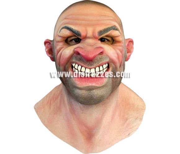 Máscara de Mobster para Halloween. Alta calidad. Fabricada en látex artesanalmente por una empresa que hace efectos especiales para Hollywood. Máscara de cabeza entera. Máscara de Gángster in New York.
