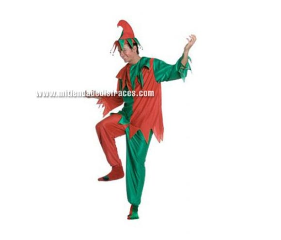 Disfraz de Bufón Adulto. Disponible en varias tallas de Hombre y Mujer. Incluye pantalón, camisa y gorro.