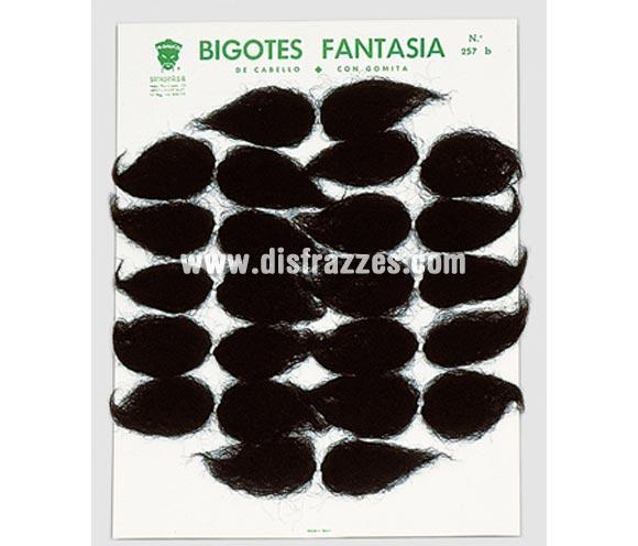 Bigote de cabello con gomita. Precio por unidad, se venden por separado. Perfectos para disfraces de Mejicanos, también de Guardia Civil.