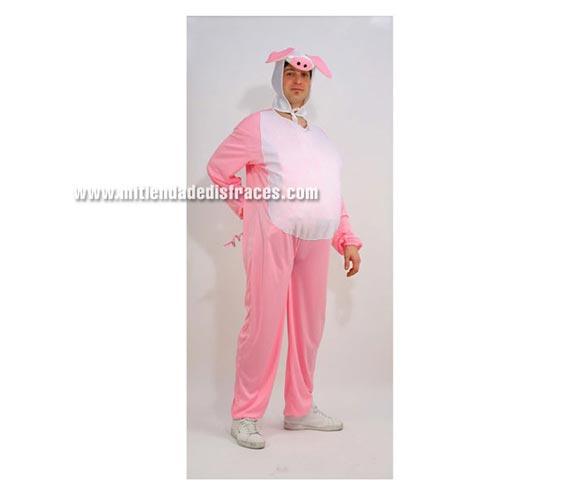 Disfraz de Cerdito Adulto. Disponible en varias tallas. Disfraz de cerdo. Confeccionado en tela de fieltro.