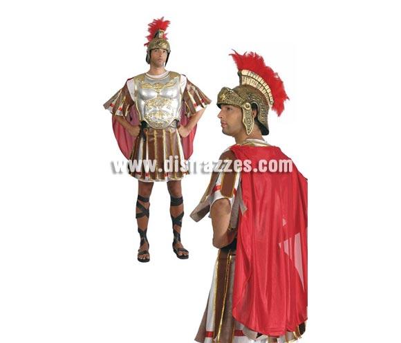 Disfraz de Romano adulto para cArnaval o Navidad. Talla única 52/54. Incluye vestido y capa. Cinturón, casco y armadura pectoral NO incluidos.