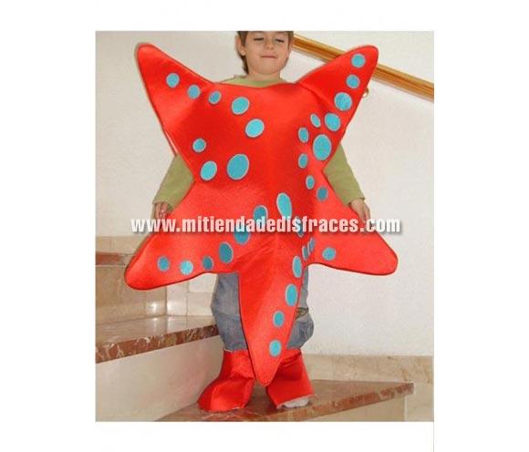 Disfraz de Estrella de Mar infantil. Confeccionado por nosotros. Disponible en varias tallas y en muchas combinaciones de colores, cuando hagas el pedido indica en qué colores te gustaría recibirlas, siempre con un mínimo de 4 unidades (para cambio de color).