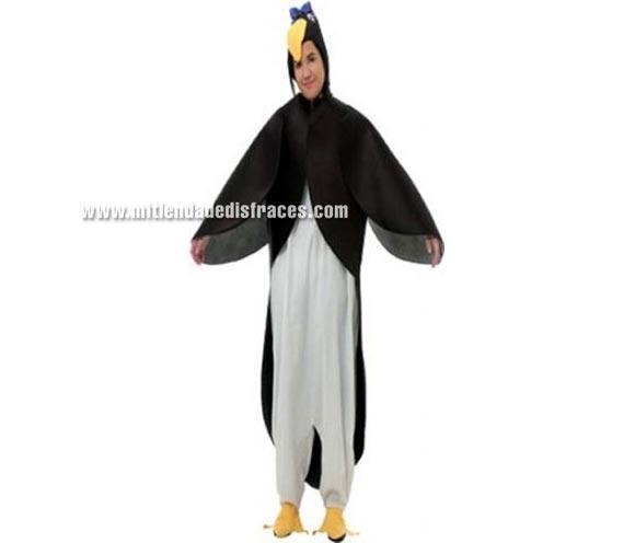 Disfraz de Pingüino Adulto. Disponible en varias tallas. Incluye disfraz completo.