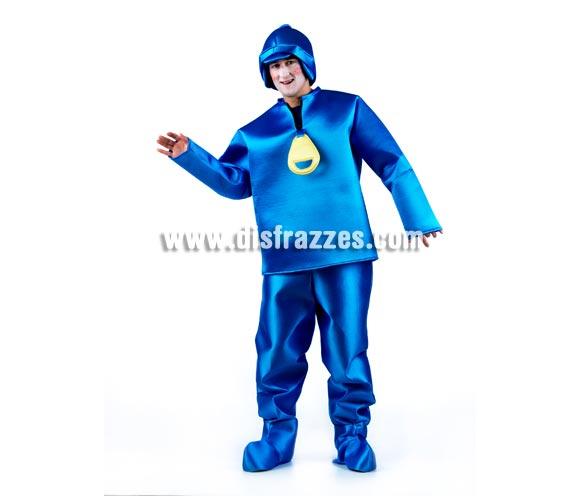 Disfraz de Niño Azul para Adulto. Disponible en varias tallas. Fabricado en tela foamizada para darle cuerpo. Un disfraz original donde los haya e ideal para Grupos, Peñas y Comparsas.