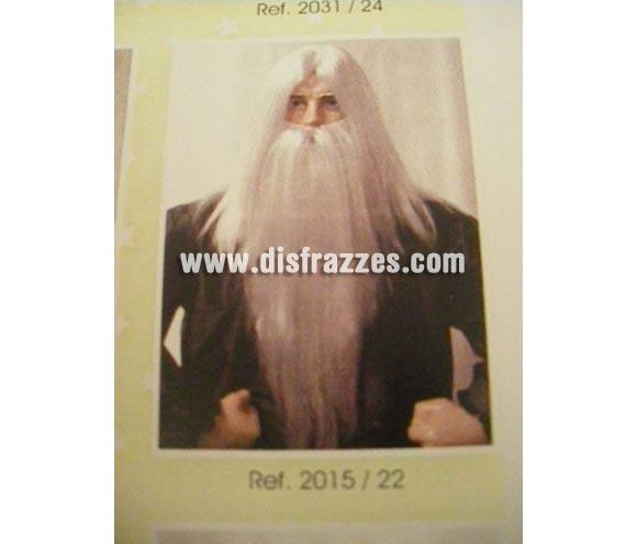 Peluca de Mago melena y barba. Varios Colores. Muy buena calidad. Fabricada en España. Talla universal. Juego de peluca melena y barba de Gandalf. La imagen no es buena pero te aseguramos que  el artículo es de muy buena calidad.