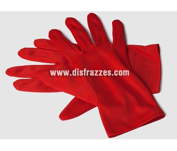 Guantes cortos rojos adaptables de 23 cm. de longitud para Halloween baratos. Ideal como complemento de tu disfraz de Disblesa o Demonia.