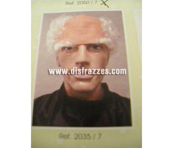 Calva, pelo y cejas blancas de Abuelo. Muy buena calidad. Fabricada en España. Talla universal. La imagen no es buena pero te aseguramos que  el artículo es de muy buena calidad.