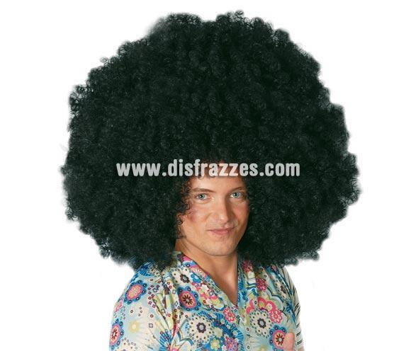 Peluca afro gigante negra.