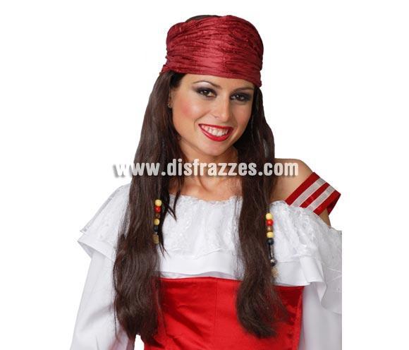 Pañuelo pirata con pelo para mujer.