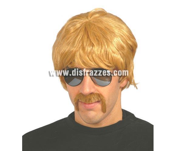 Peluca hombre rubia para Carnaval. Bigote NO incluido. Para disfrazarse de Chuck Norris, Starsky y Hutch y para disfraces de los años 60, 70 y 80 por ejemplo.