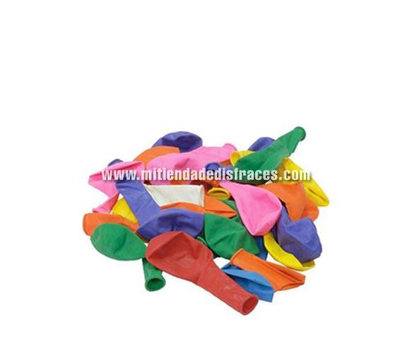 Bolsa de 100 globos. Varios colores