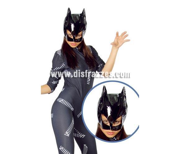Máscara de Cat Woman. Máscara de mujer gato.