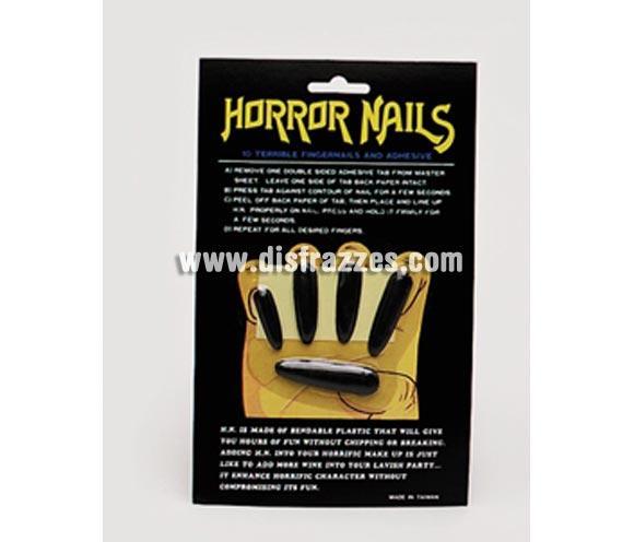 Uñas de Bruja negras adhesivas.