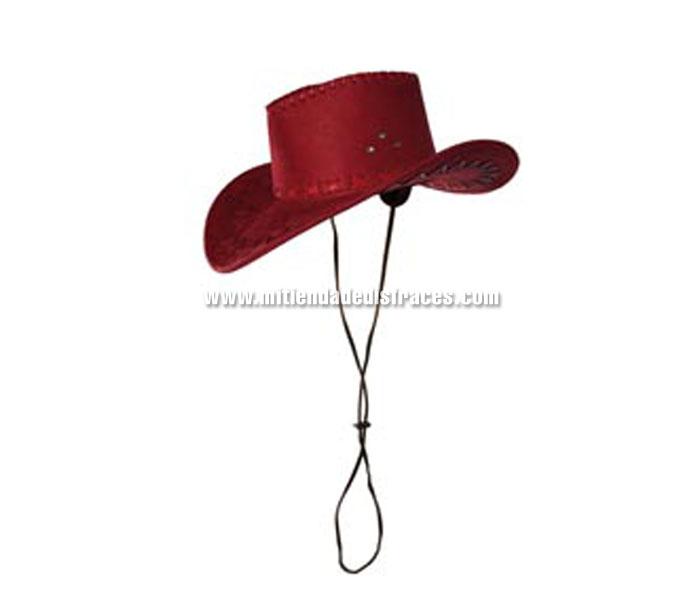 Sombrero Cowboy Cimarron rojo. Sombrero de Vaquero o Pistolero.