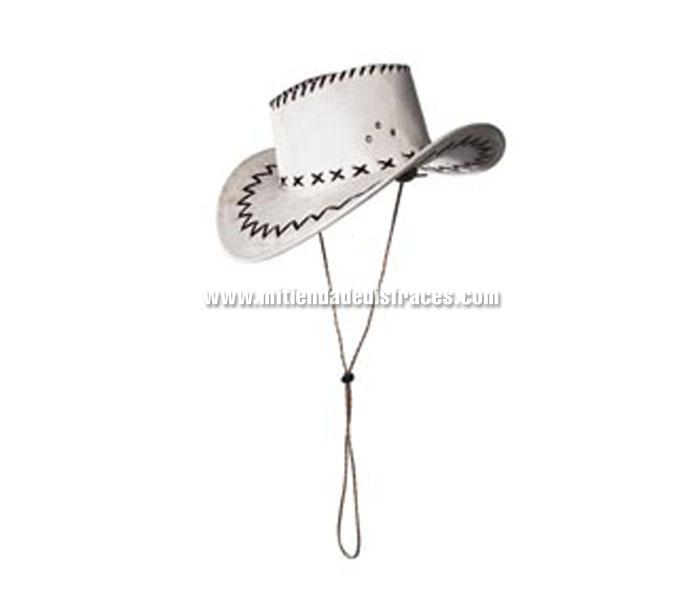 Sombrero de Cowboy Cimarron blanco. Sombrero de Vaquero o Pistolero.