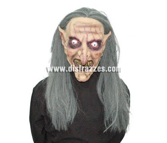 Careta de Monstruo con pelo para Halloween. Máscara de Bruja para Halloween.
