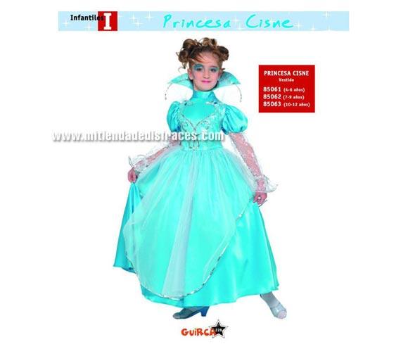 Disfraz de Princesa Cisne Infantil talla de 7 a 9 años. Incluye vestido. ¡¡Compra tu disfraz para Carnaval en nuestra tienda de disfraces, será divertido!!