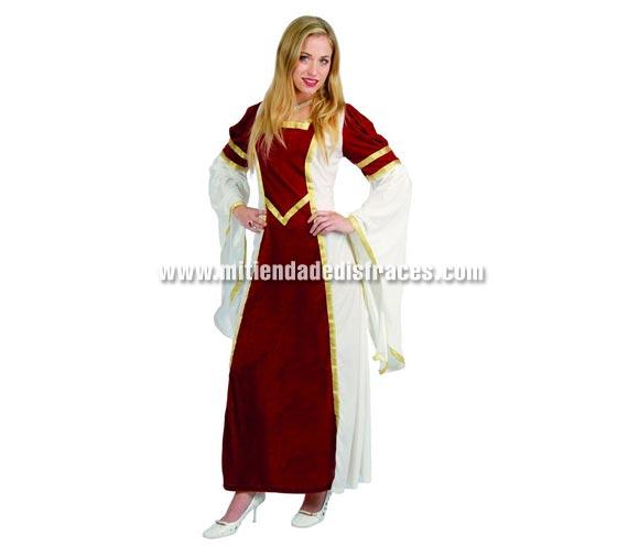 Disfraz de Dama Medieval Adulta. Talla única válida hasta la 42/44. Incluye vestido.
