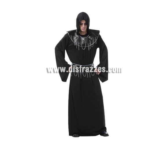 Disfraz de Hombre Ejecutor de la Calavera adulto para Halloween. Talla Standar M-L = 52/54. Disfraz barato y diferente para Halloween que incluye traje, cinturón y collarín.