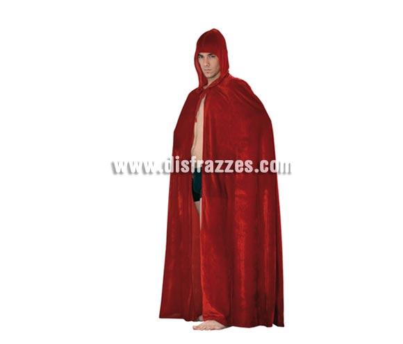Capa con Capucha Terciopelo Roja para Halloween. Capa de Halloween en talla única adultos.
