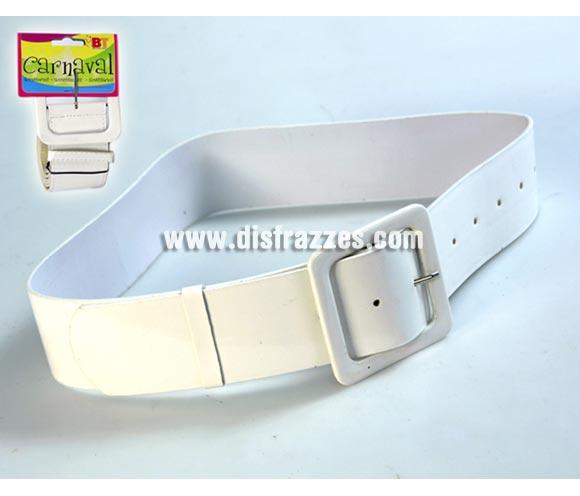 Cinturón Blanco de 107 cm. Talla estándar de adulta. Ideal como complemento de tu disfraz de Mama Noel.
