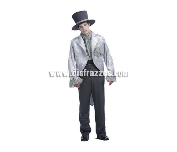 Disfraz de Novio Cadáver adulto de Halloween. Talla Standar M-L = 52/54. Disfraz de Halloween que hace pareja con el de Novia Cadáver (ref. 89859BT) que incluye sombrero, chaleco, pantalones y chaqueta.