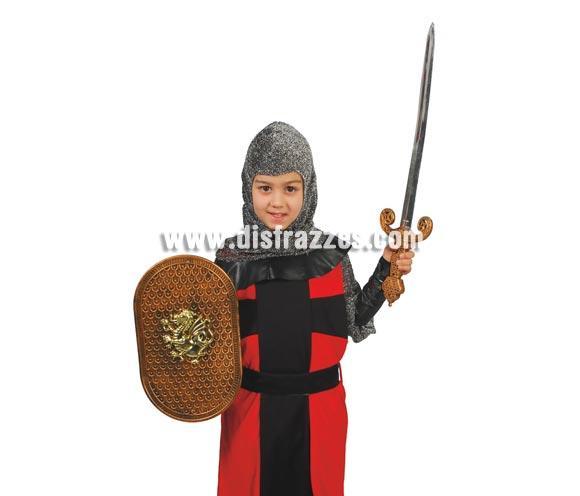 Conjunto infantil escudo y espada de 50 cm.