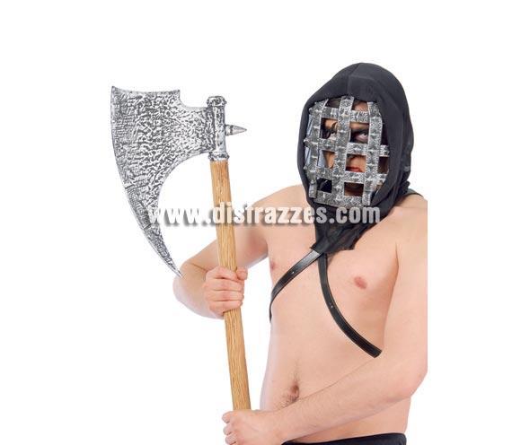 Hacha verdugo 76 cm. Ideal como complemento de tu disfraz para Carnaval y también de Halloween, tanto como complemento, como para decoración.
