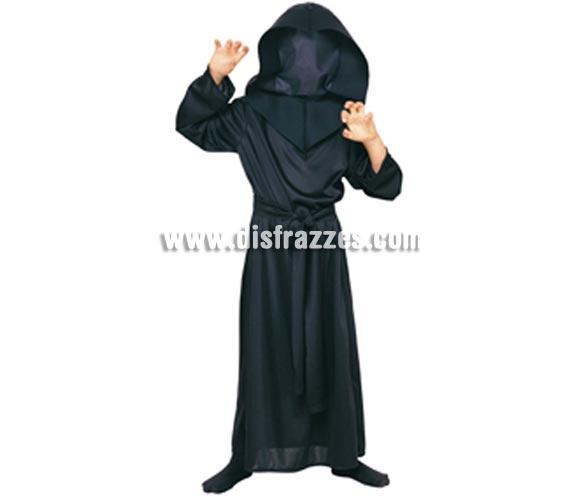 Disfraz de Hombre sin Rostro infantil para Halloween barato. Talla de 3 a 4 años. Incluye túnica, capucha especial y cinturón.