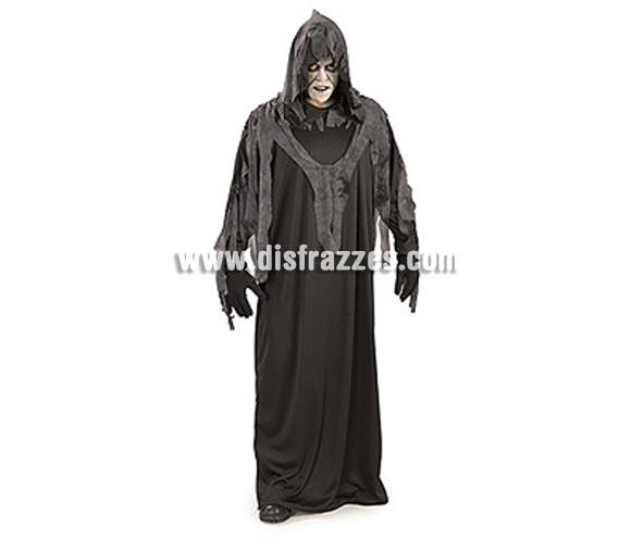 Disfraz de Bestia Nocturna adulto para Halloween. Talla estándar. Incluye túnica negra con capucha y flecos.