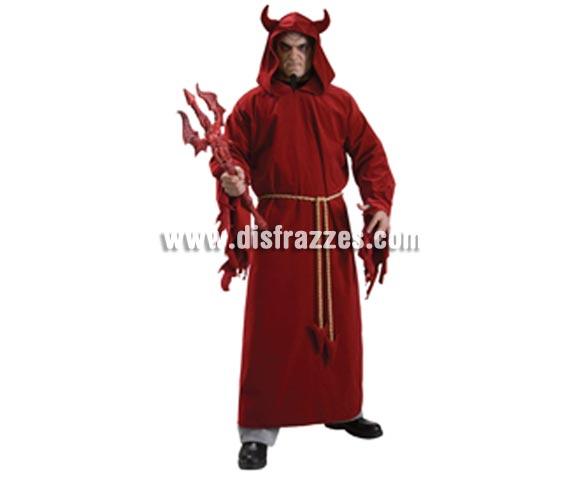 Disfraz de Lord Diablo o Demonio adulto para Halloween. Devil Lord. Talla estándar. Incluye túnica con capucha y cinturón de cuerda.