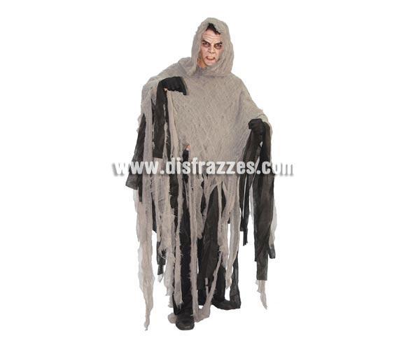 Disfraz de Hombre de las Tinieblas adulto barato para Halloween. Talla única 52/54. Incluye vestido con capucha.
